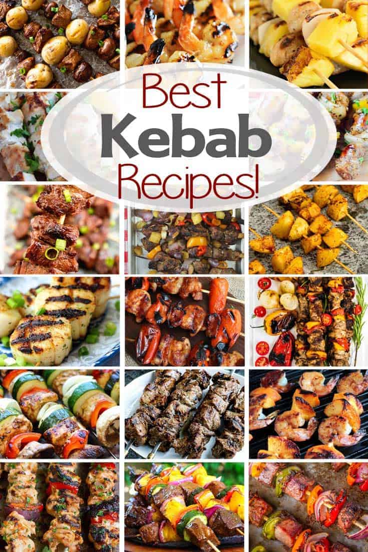 Best Kebab Recipes! Everything from Chicken, Steak, Potatoes, Seafood, Vegetable Skewers and More! Everyone Will Find a New Favorite Kebab Recipe to Try! via @gimmesomegrilling