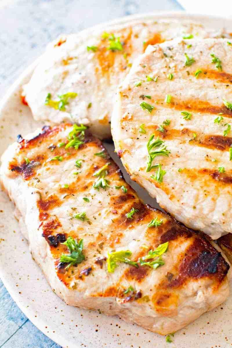 Grilled Ranch Pork Chops