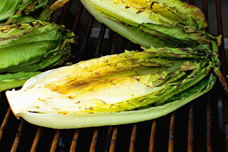 Romaine Lettuce on grill