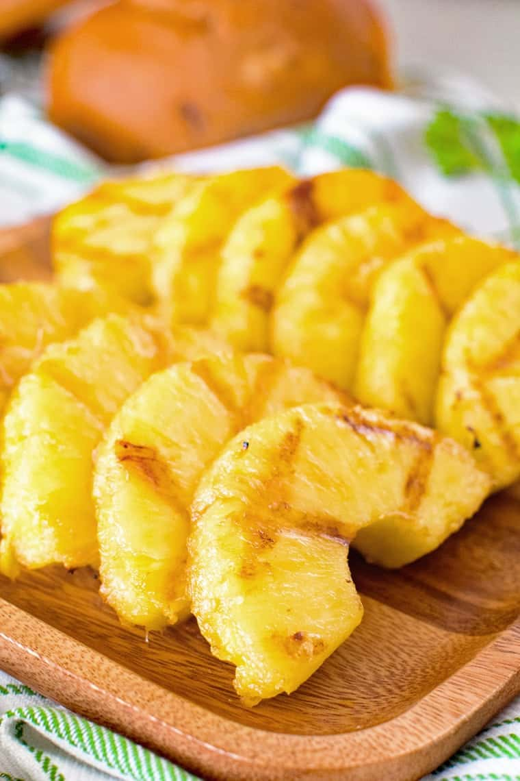 slices of grilled pineapple