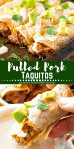 Pulled Pork Taquitos Collage 1