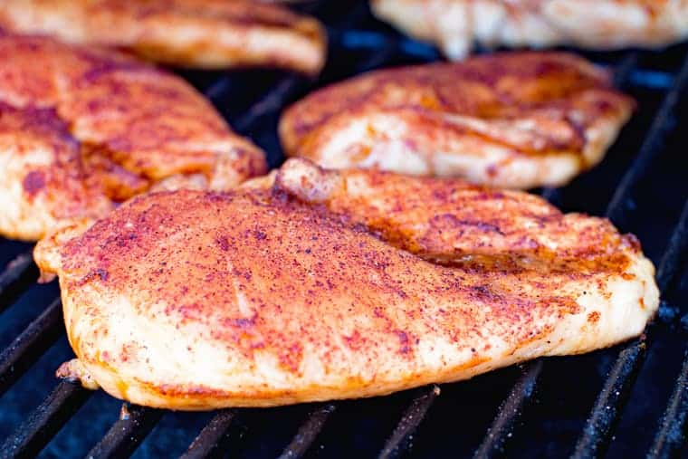 Dry Rub BBQ Smoked Chicken Breasts