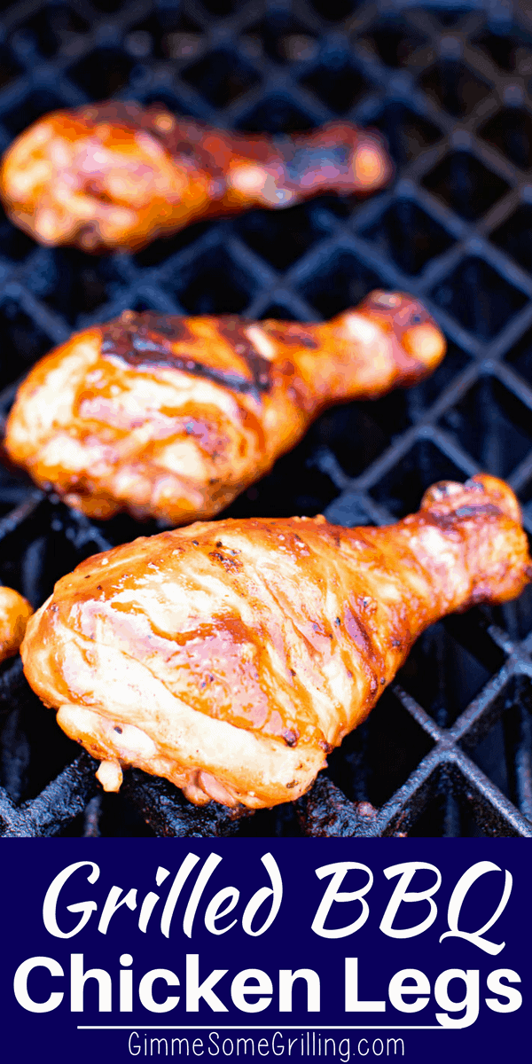 Delicious Grilled BBQ Chicken Drumsticks are perfect for your cookouts, barbecues and backyard parties! They are easy, flavorful and inexpensive! This easy grilled chicken leg recipe will be an instant hit and a favorite you'll come back to all summer long! via @gimmesomegrilling