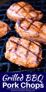 BBQ Pork Chops Pinterest Image