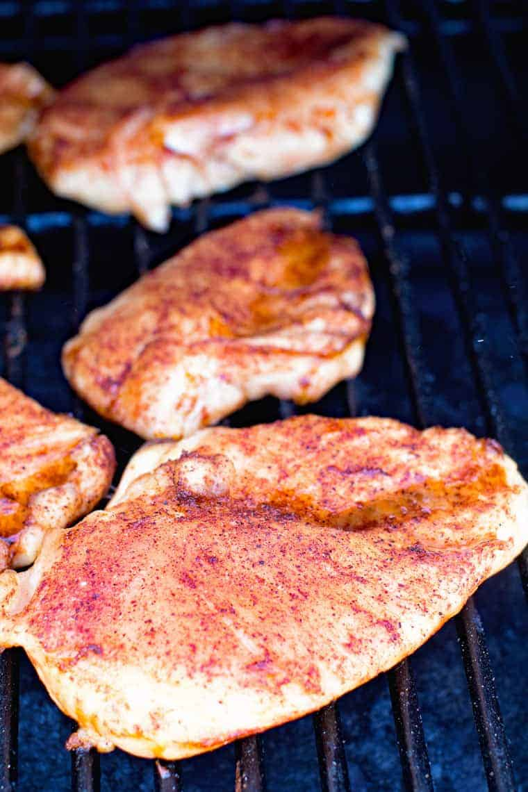 Dry Rub BBQ Smoked Chicken Breasts