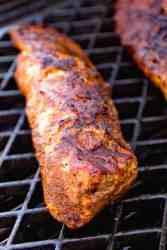 Taco Seasoned Pork Loin on grill