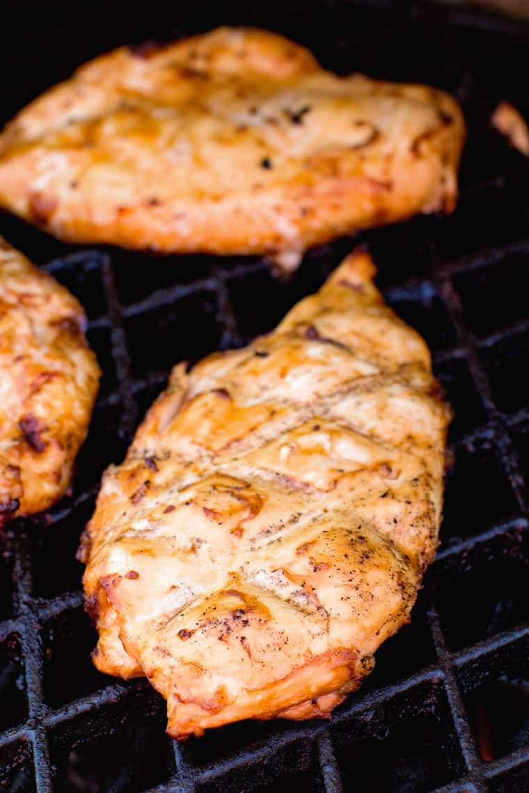 Teriyaki Chicken Breast on Grill