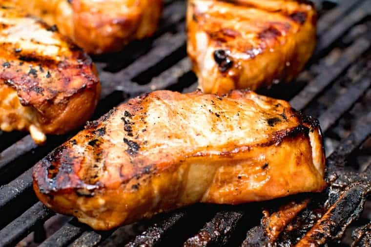 Pork Chops on the grill