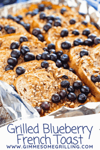 Grilled Blueberry French Toast Pinterest Collage 3