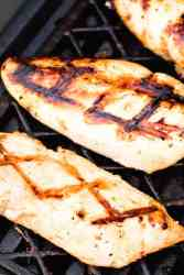 Marinated Italian Chicken Breasts on the grill