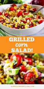 grilled corn salad Pins