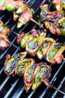 Grilled Brussel Sprouts on grill
