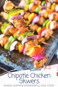 Chipotle Chicken Skewers Pinterest 5