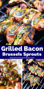 Grilled Brussels Sprouts Pinterest collage