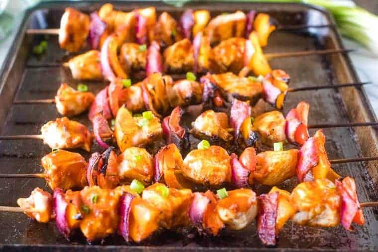 Grilled Buffalo Chicken Skewers