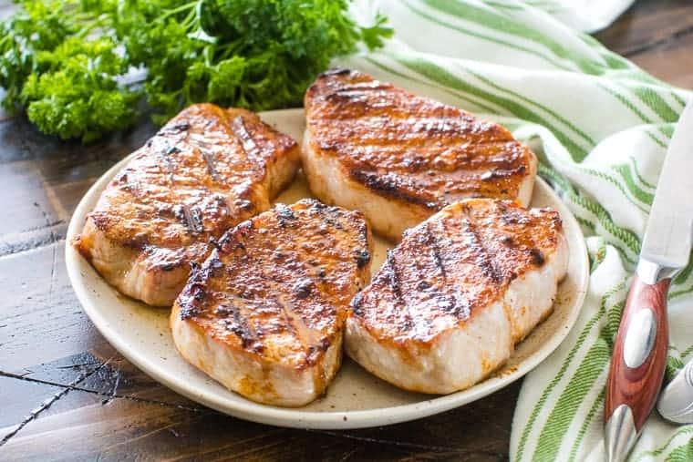Southwest Pork Chops on plate