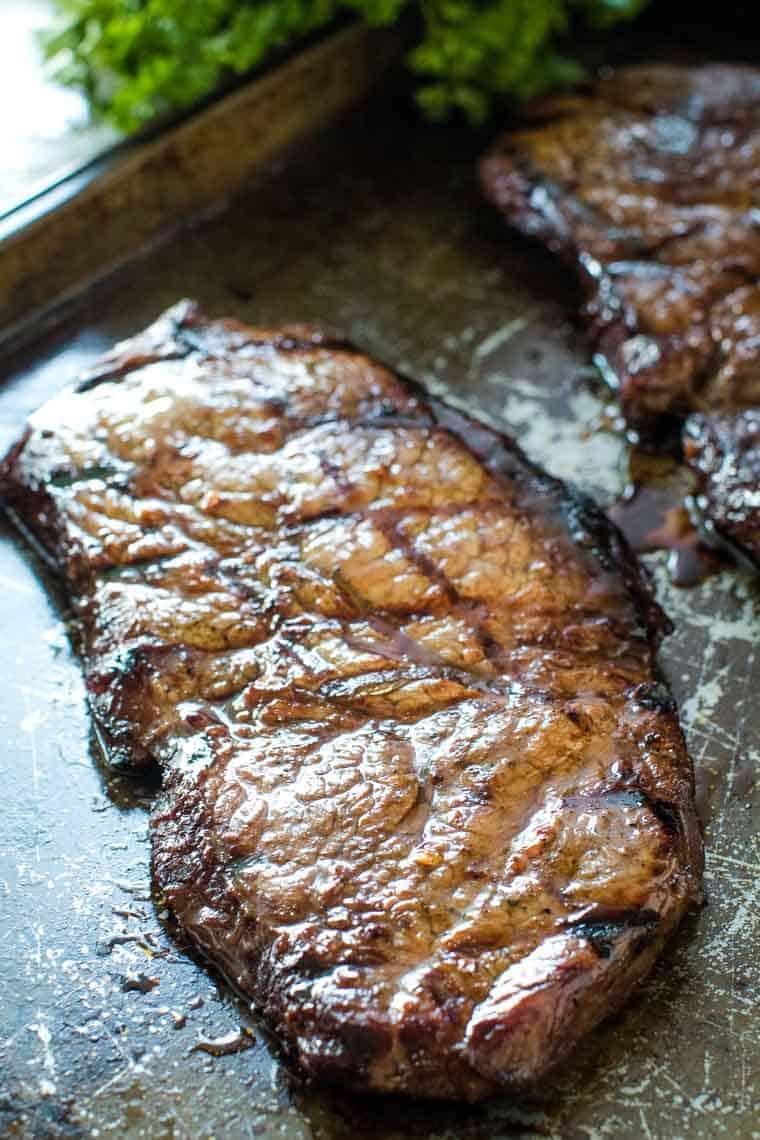 Grilled Bourbon Steak