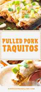 Pulled Pork Taquitos pin image