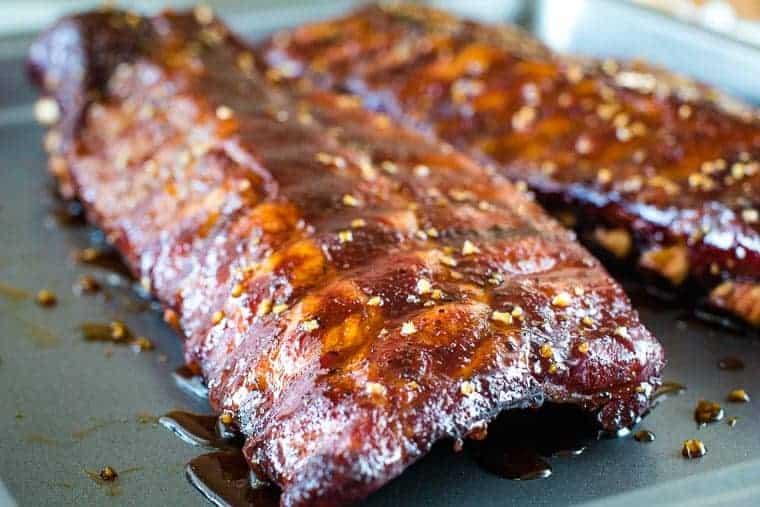 honey garlic 321 ribs prepared