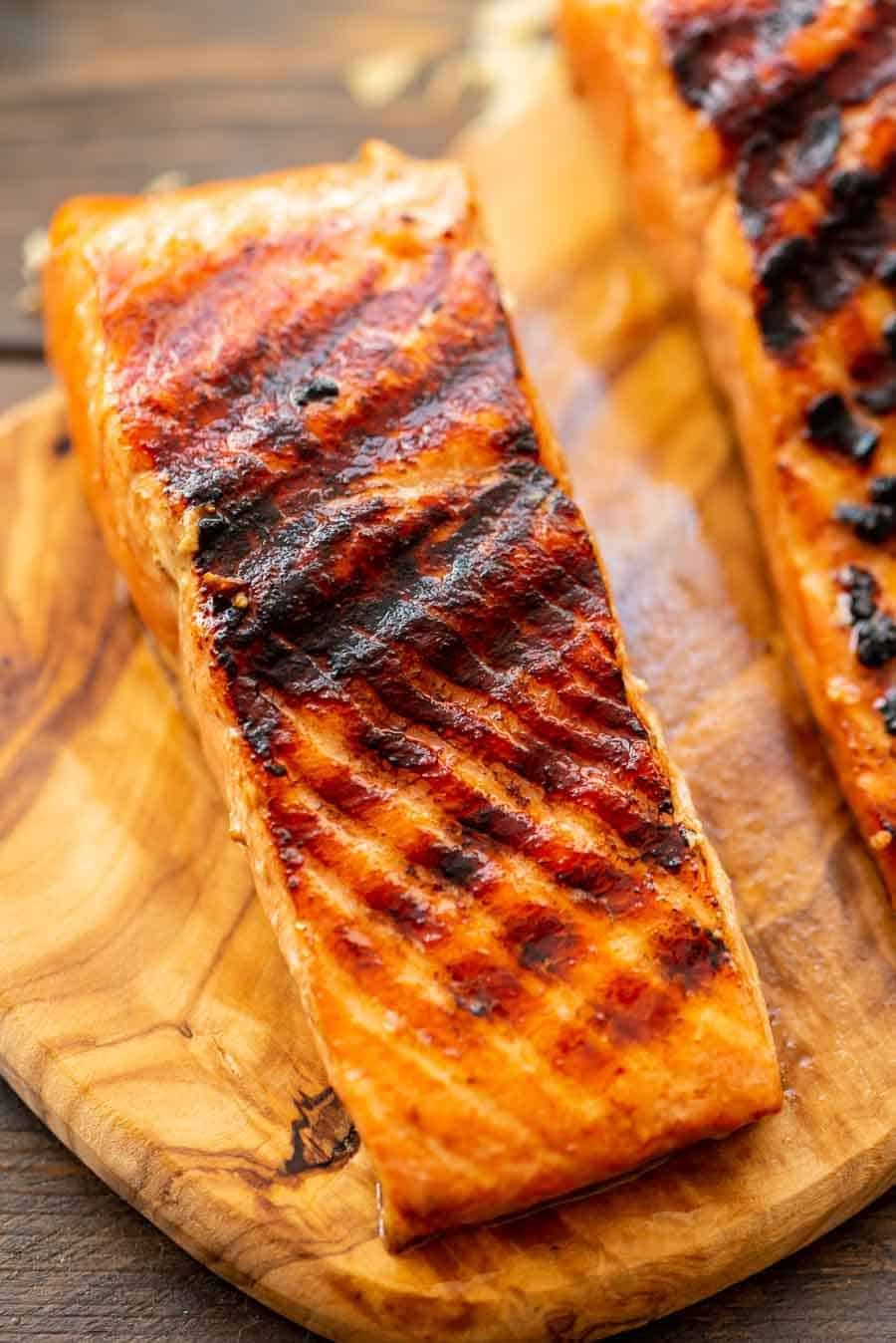 Easy Grilled Salmon on board