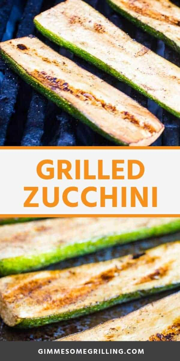 Grilled Zucchini is a healthy side dish recipe the grill! It's flavored with balsamic and seasonings for a delicious flavor. With minimal prep and clean up it's the perfect quick and easy recipe to throw on the grill with your main dish! We will teach you how to grill it perfectly so it has a little crunch and isn't soggy! If you have a lot of zucchini to use up from the garden is the perfect zucchini recipe! #zucchini #recipe via @gimmesomegrilling