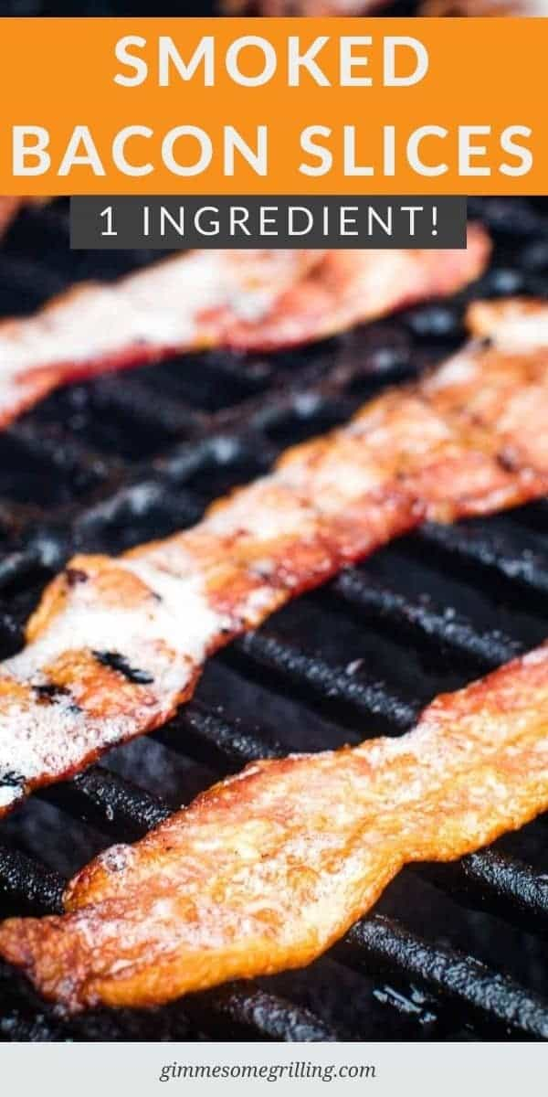 If you want the best bacon ever make it on your Smoker! These easy Smoked Bacon slices are bursting with your favorite smokey flavor from using your pellet grill. It's a quick, easy way to make bacon that doesn't make a mess. Use a thick cut of bacon for the best result. Make this for breakfast or make it to top your favorite Smoked Burgers! #bacon #smoked via @gimmesomegrilling
