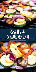 easy grilled vegetables pin