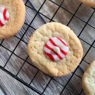Holiday peppermint Hershey's Kiss cookies