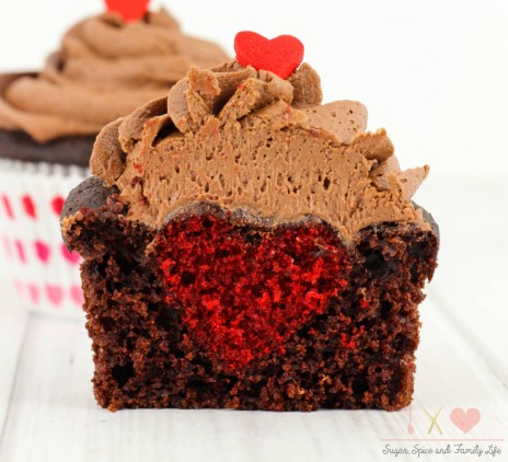 Hidden heart chocolate cupcakes recipe - Sugar Spice and Family Life