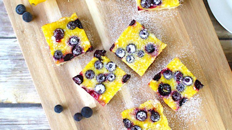Lemon Blueberry Bars Recipe