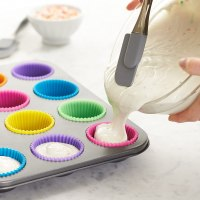 Silicone reusable mini muffin liners