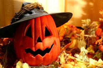 ハロウィン魔女風かぼちゃ画像
