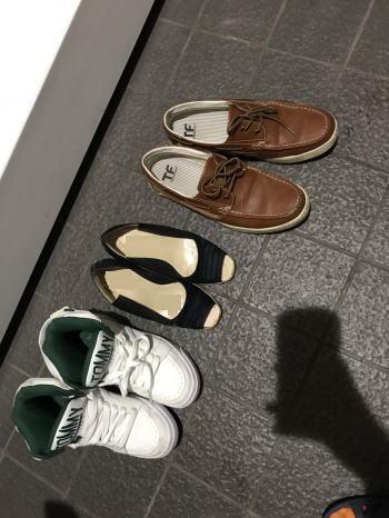 都立高校合同説明会の靴
