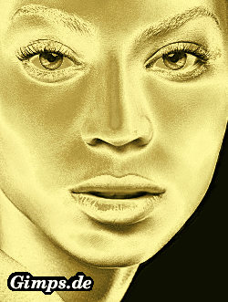 gold woman picture