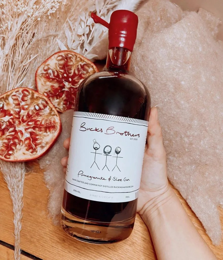 Bucks Brothers Pomegranate and Sloe Gin Liqueur