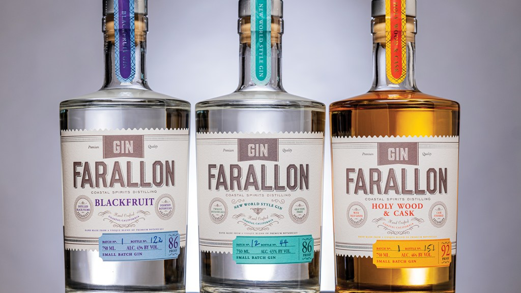 The Gin Farallon range from Coastal Spirits