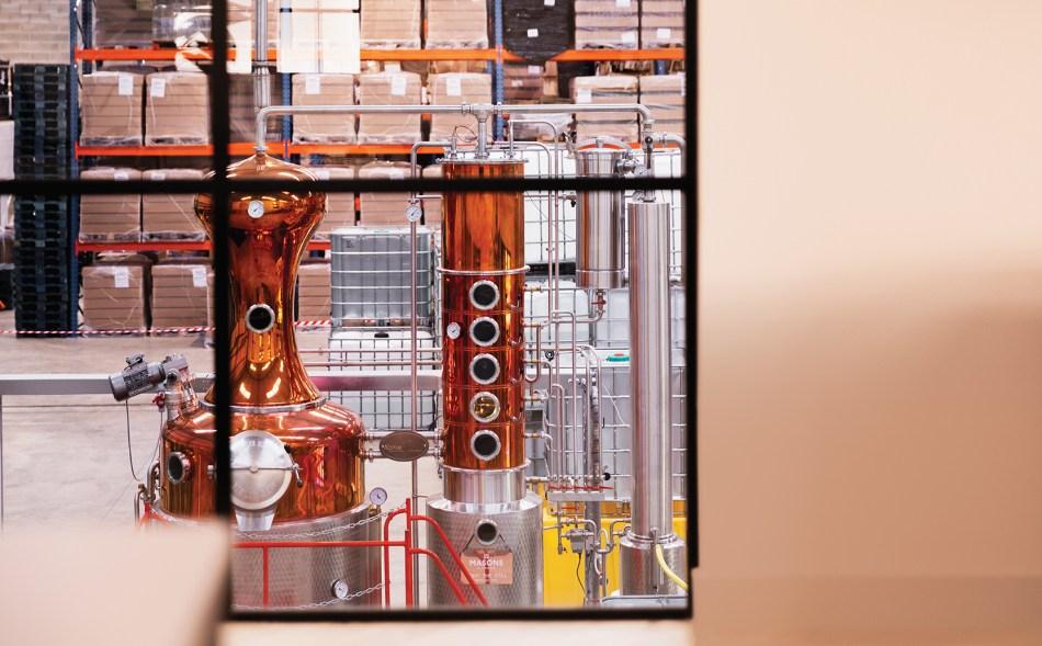 Stills at Masons of Yorkshire gin distillery