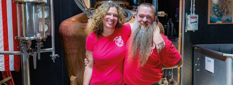Amy and Steve Bohner of Alchemy Distillery