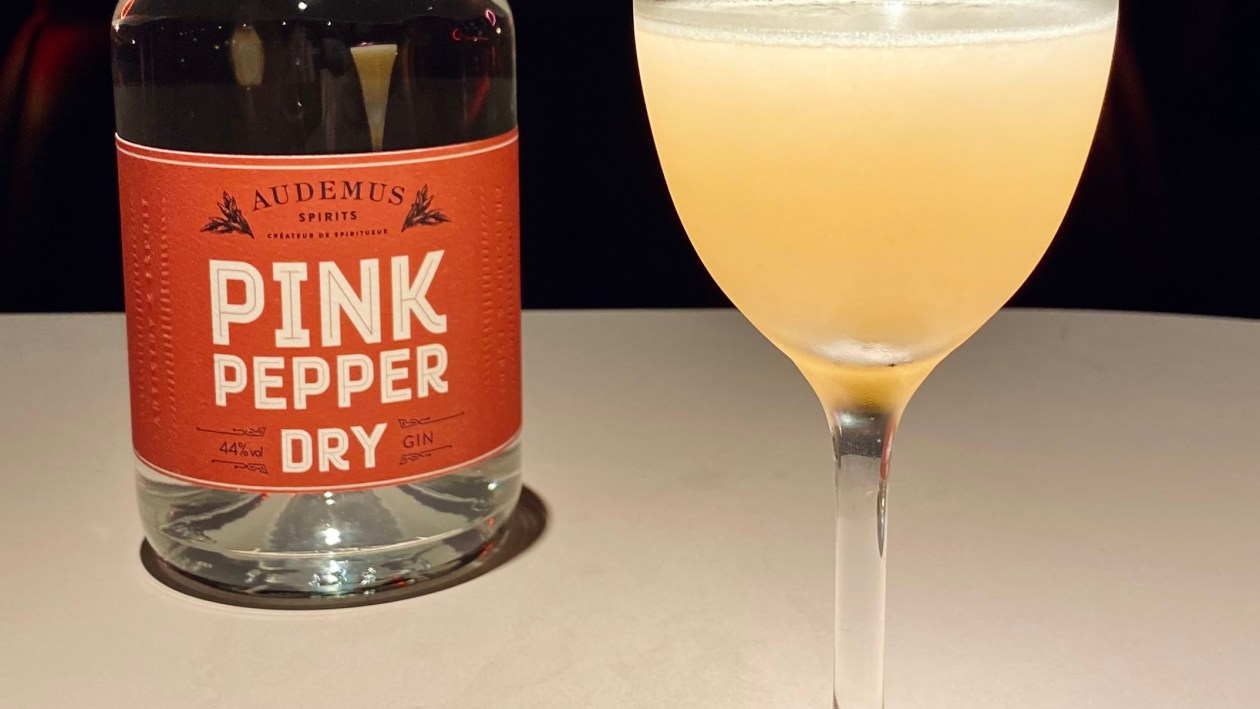 Pegu Club cocktail with Pink Pepper Dry Gin