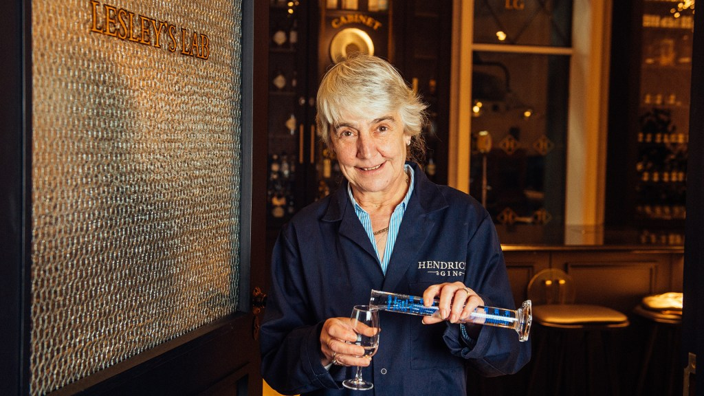 Lesley Gracie in Lesley's Lab at the Hendrick's Gin Palace in Scotland