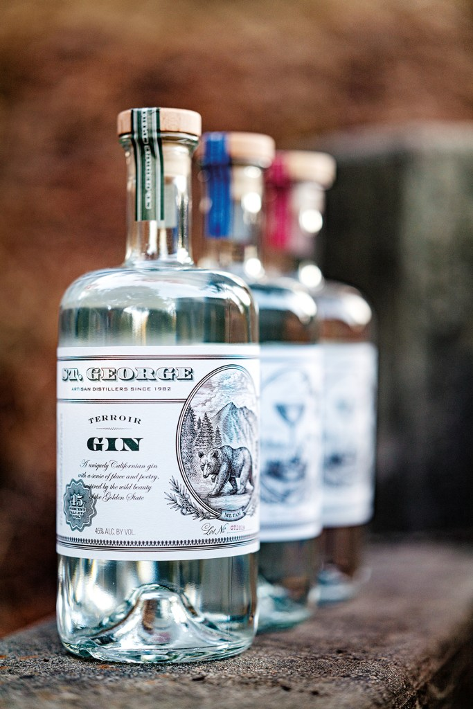 The range of craft gins from San Francisco-based St George Spirits
