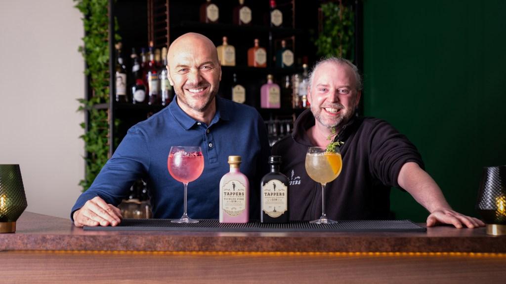 Simon Rimmer, Sunday Brunch host, and Steve Tapril, founder of Tappers Gin