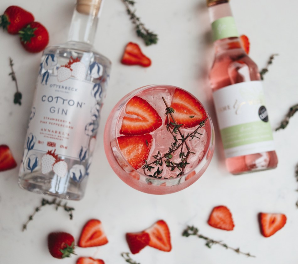 Otterbeck Distillery Strawberry and Pink Peppercorn Cotton Gin