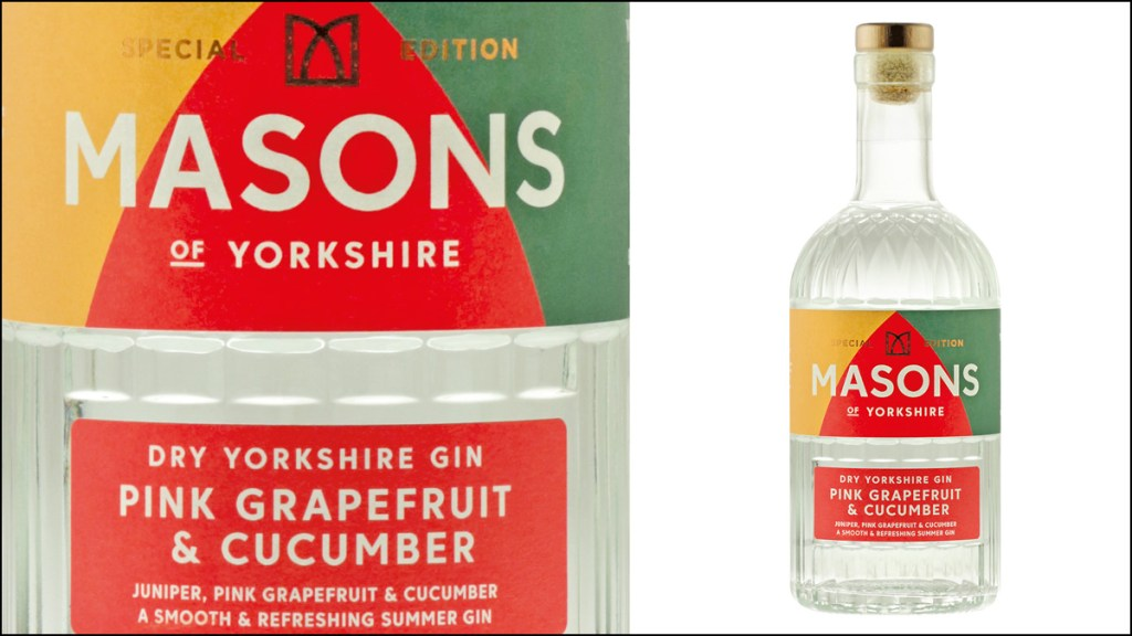Masons of Yorkshire Pink Grapefruit and Cucumber Gin