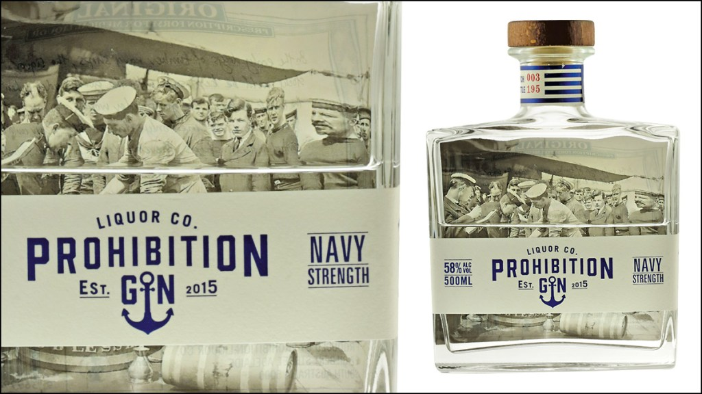 Prohibition Gin Navy Strength