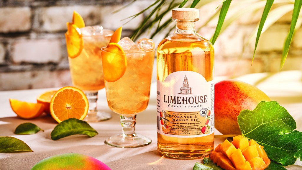 Limehouse Orange and Mango Summer Gin Fizz cocktail
