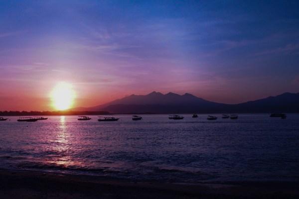 ギリ島の夕日