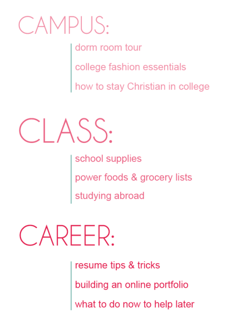 campus, class, career oh my! back to school college life blog guide