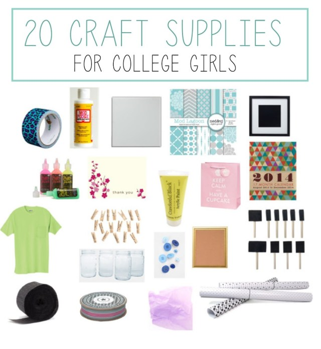 20 Must-Have Craft Supplies for College
