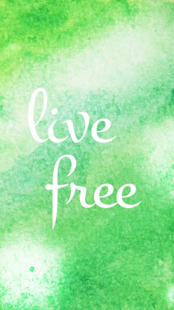 Live Free Watercolor Phone Background